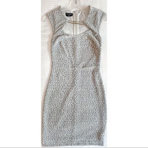 Bebe Grey Cut Out Chain Dress
